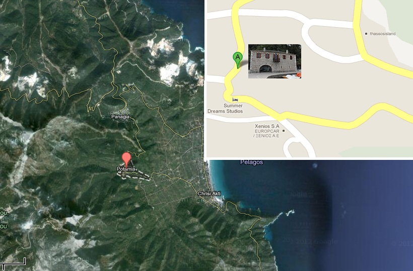 harta obiective turistice thassos Polygnotos Vagis