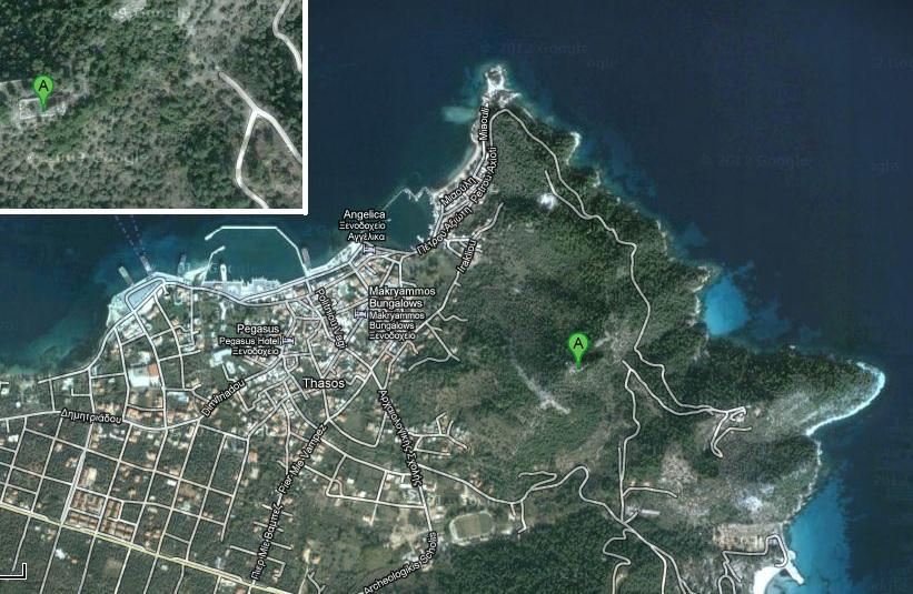 harta obiective turistice thassos acropole