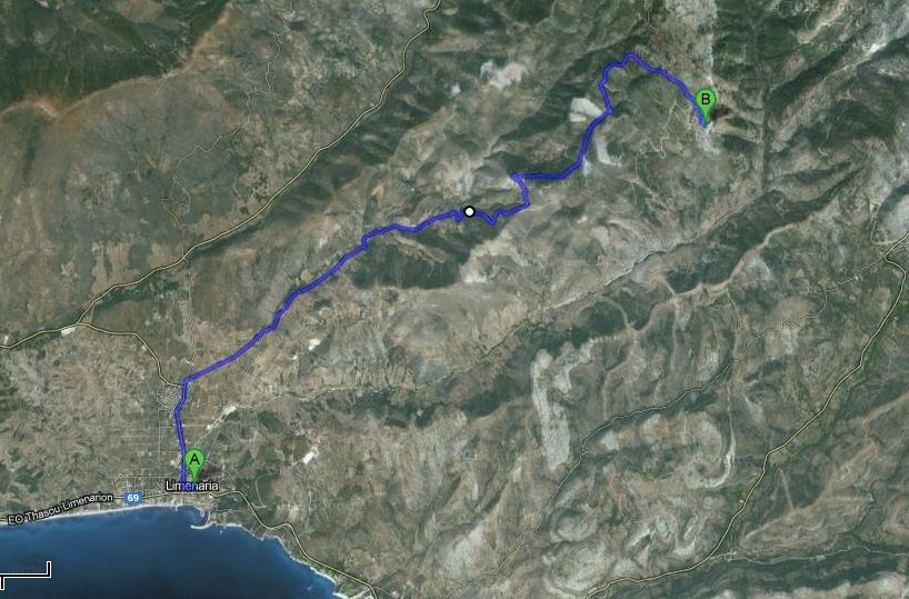 harta obiective turistice thassos kastro