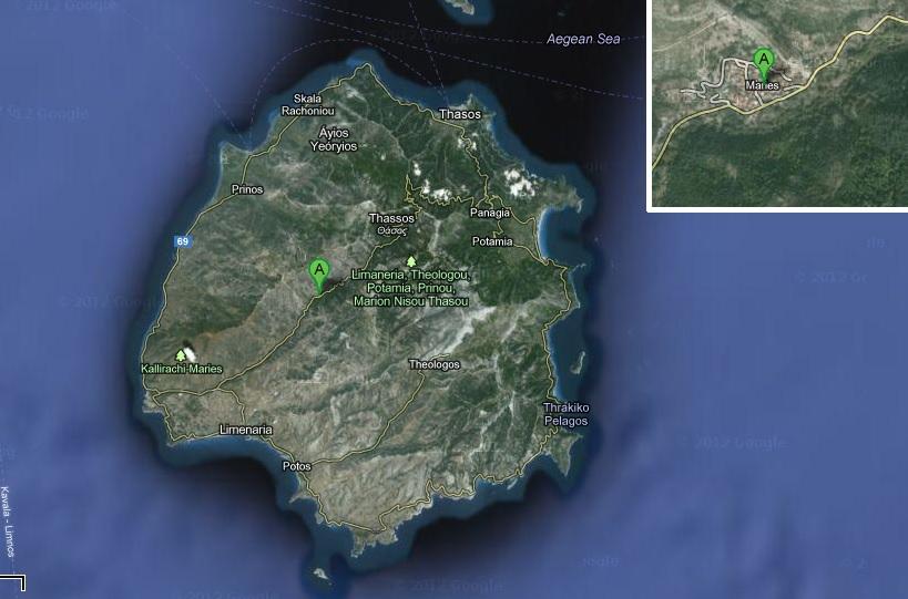 harta obiective turistice thassos maries