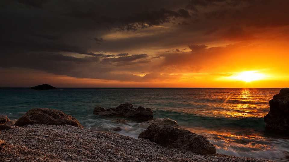 despre lefkada plaja kathisma
