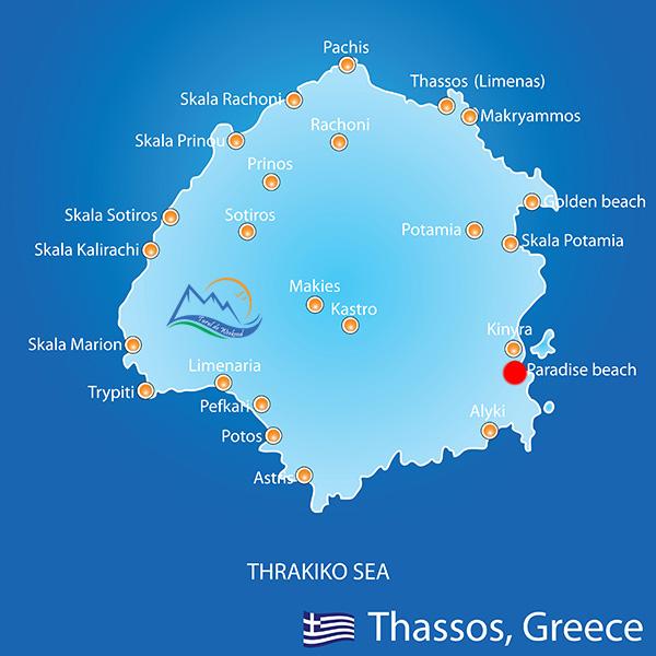 harta thassos paradise beach