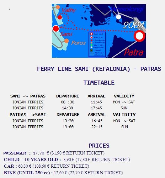 ferryboat patra kefalonia