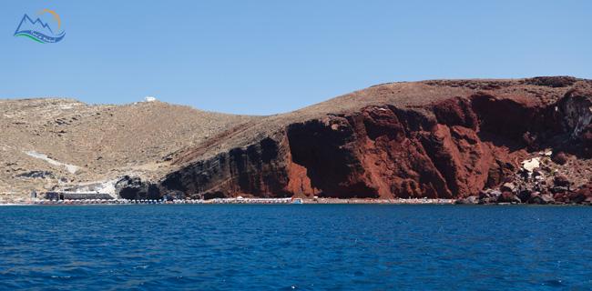 Akrotiri beach santorini