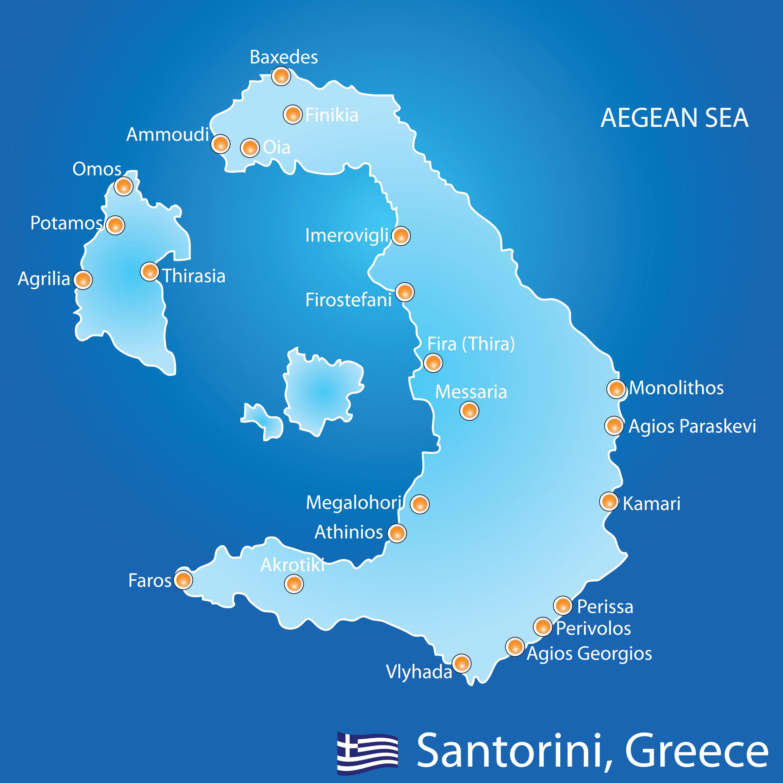 Harta Santorini Grecia De Weekend