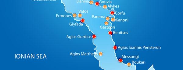 Harta Insula Corfu Centru Grecia De Weekend