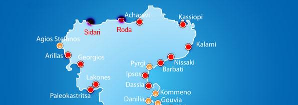 Insula Corfu De La Nord La Sud Grecia De Weekend