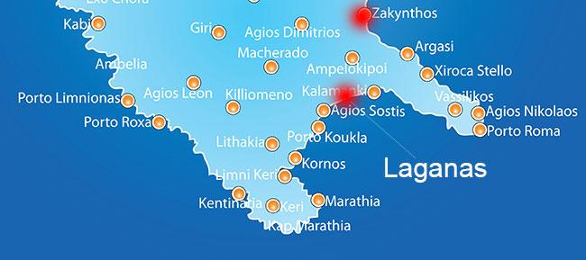 Harta Laganas Grecia De Weekend