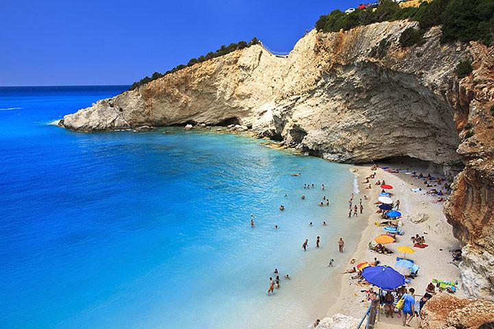 Insula Lefkada De La Nord La Sud Grecia De Weekend