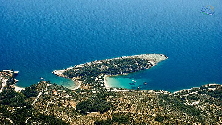 Insula Thassos De La Nord La Sud Grecia De Weekend
