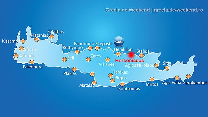 Hersonissos Creta Harta