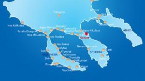 Harta Ormos Panagias Sithonia