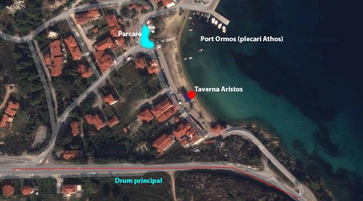 Harta Ormos Panagias Sithonia taverne