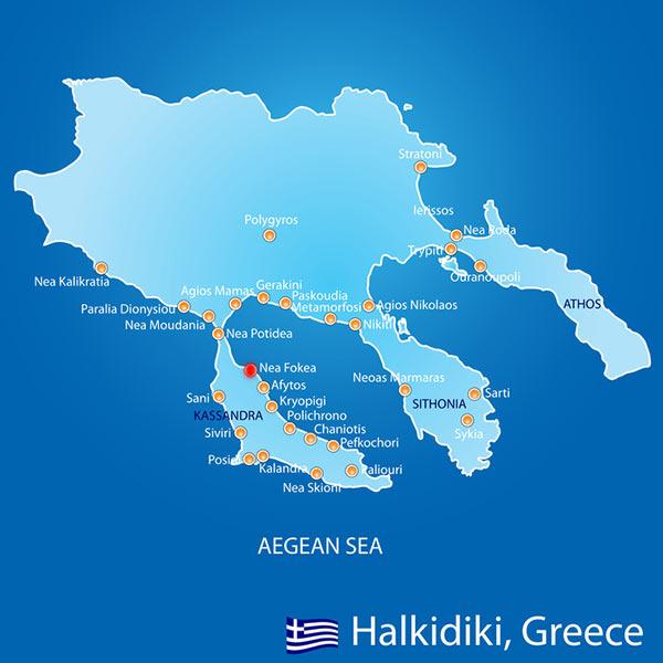 Harta Halkidiki Nea Fokea Grecia De Weekend