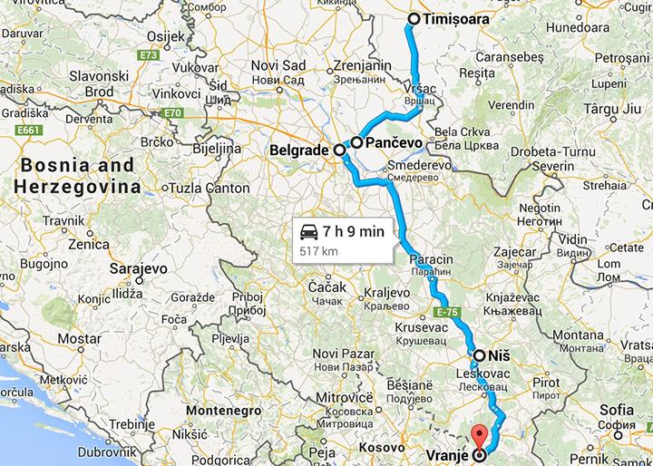 Drumul spre Grecia prin Zajecar