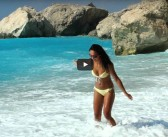 [VIDEO] Albastru de Lefkada, Plaja Kathisma
