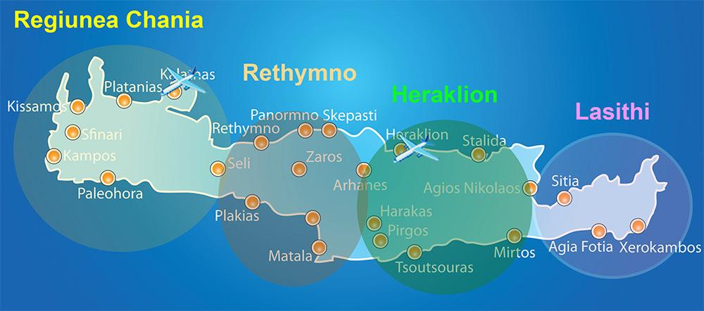 Insula Creta De La Nord La Sud Grecia De Weekend
