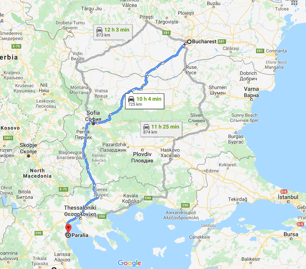 Bucuresti Paralia Katerini Traseu Auto Grecia De Weekend