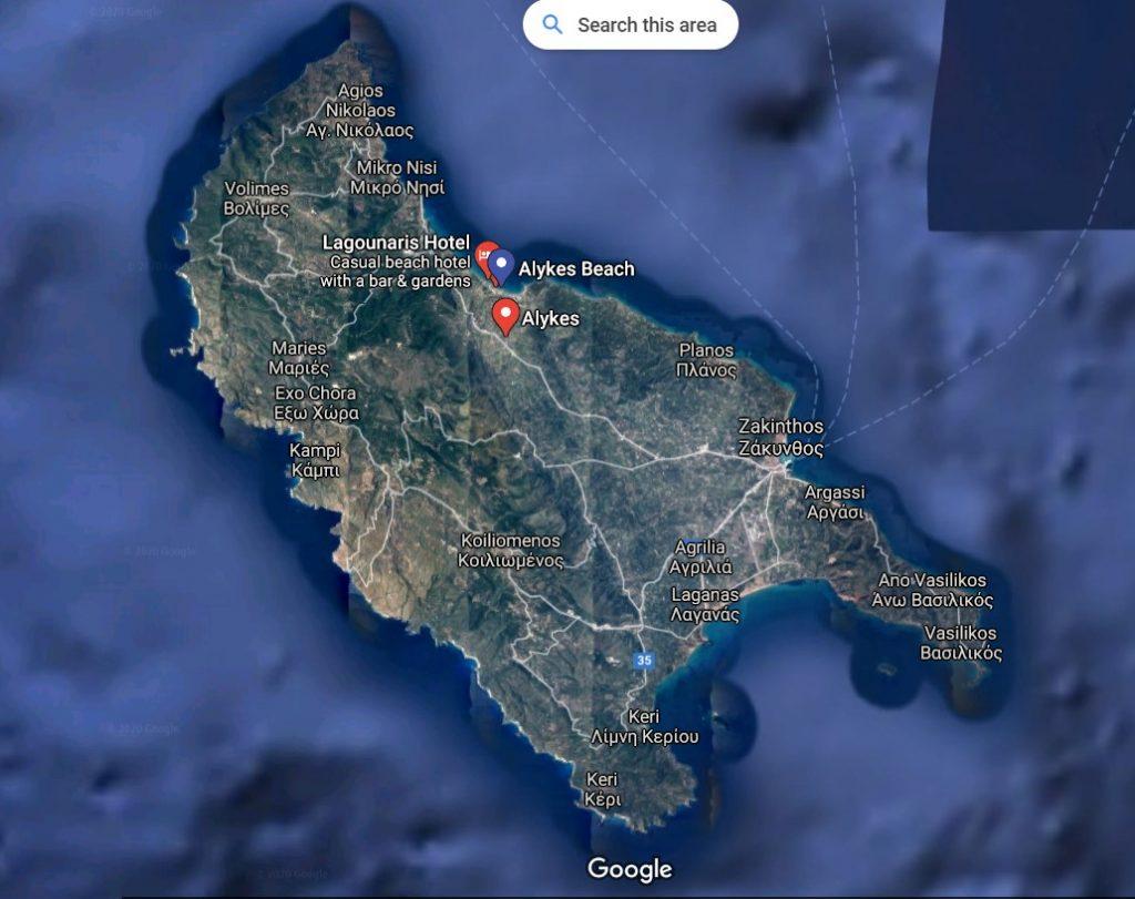 localizare-plaja-alykes-zakynthos