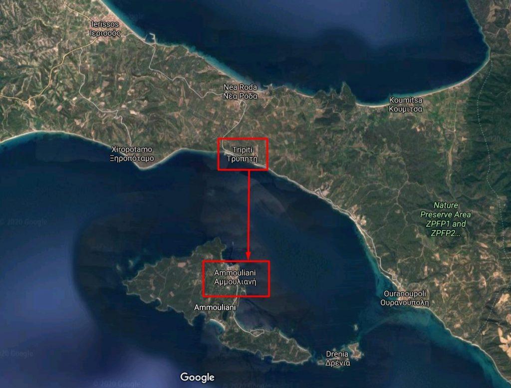 localizare-insula-ammouliani