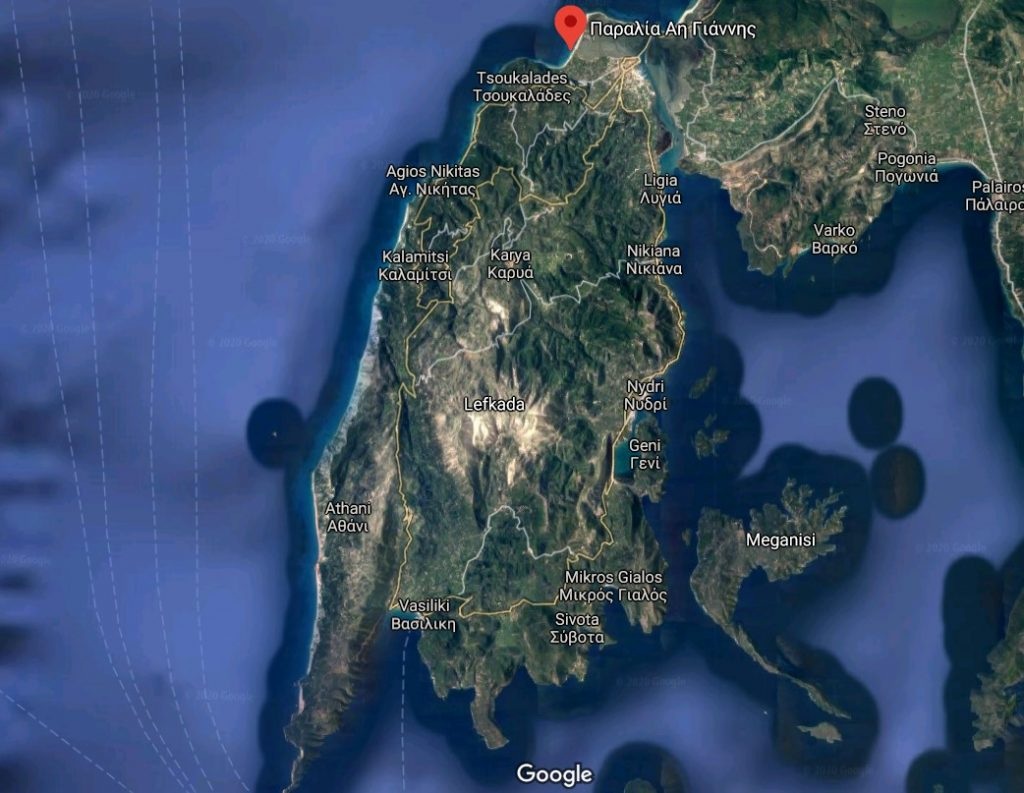 plaja-agios-ioannis-localizare-lefkada